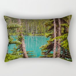 Through the Trees at Lesser Lake Garibaldi Rectangular Pillow