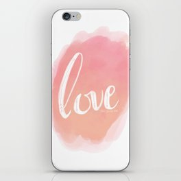 Pretty Love Print With Arrows iPhone Skin