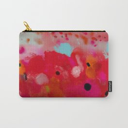 red poppies field abstract Carry-All Pouch