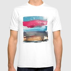 Landscape Color Study 1 MEDIUM White Mens Fitted Tee