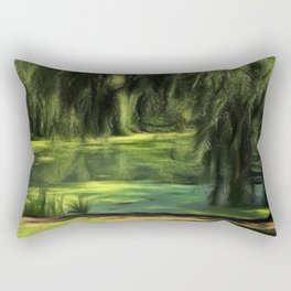 Central Park Pond Rectangular Pillow