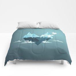 Low Poly Polar Bear Comforters