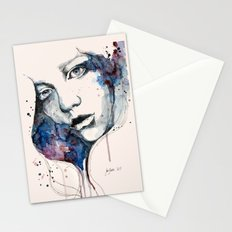 Window, watercolor & ink painting Stationery Cards