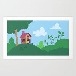 Peepoodo's house Art Print