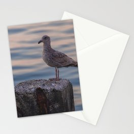 Gull on Pole Stationery Cards