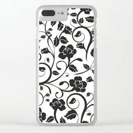 Floral Textile Art - 8 Clear iPhone Case