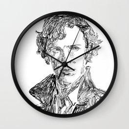 Scribble Sherlock Wall Clock