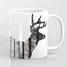 Deer forest winter silhouette Coffee Mug