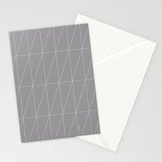 Grey Triangles by Friztin Stationery Cards