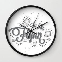 In Like Flynn Wall Clock