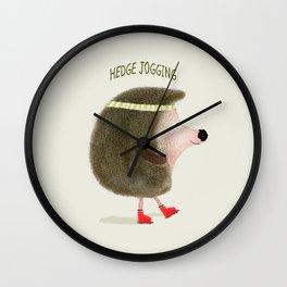 hedge jogging Wall Clock
