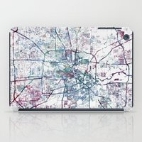 houston iPad Cases featuring Houston map by MapMapMaps.Watercolors