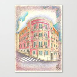 architecture of the 50's Canvas Print