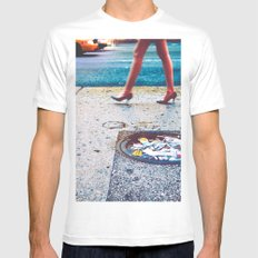 Pretty Gritty SMALL White Mens Fitted Tee