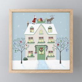 Christmas House Framed Mini Art Print