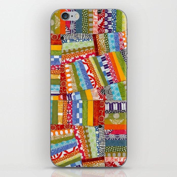 rainbow quilt iPhone Skin