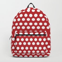 Polka Dots Red Backpack