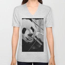 Panda Bear Munchies Unisex V-Neck
