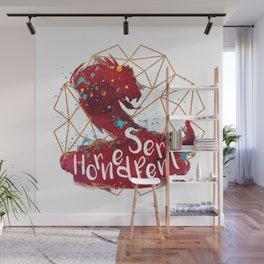 Horned Serpent Wall Mural