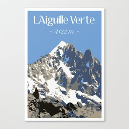 L'Aiguille Verte - France Canvas Print