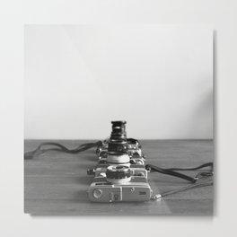 Film Cameras Metal Print