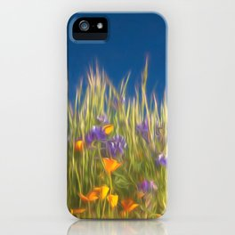 California Wildflowers natural pattern 4 iPhone Case