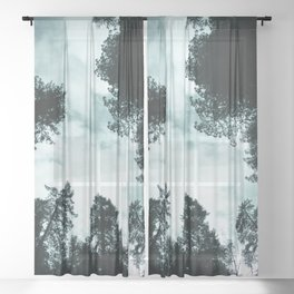 Redwood Forest Adventure - Nature Photography Sheer Curtain