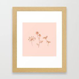 Wildflower Line Art Framed Art Print