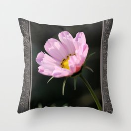 Cosmos named Sea Shells Pink Throw Pillow