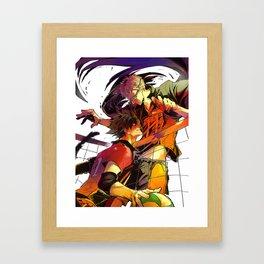 Haikyuu: Kuroo and Tsukishima Kei Framed Art Print
