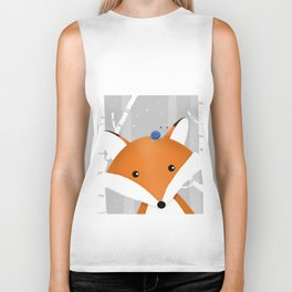 Fox and snail Biker Tank