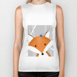 Fox and snail Biker Tank