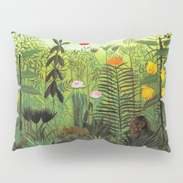 EXOTIC LANDSCAPE WITH LION AND LIONESS IN AFRICA - HENRI ROUSSEAU  Pillow Sham