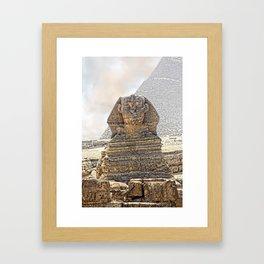 Sphinx  Egypt Framed Art Print