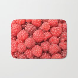 Delicious raspberries food pattern Bath Mat