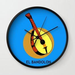 El Bandolon Mexican Loteria Card Wall Clock