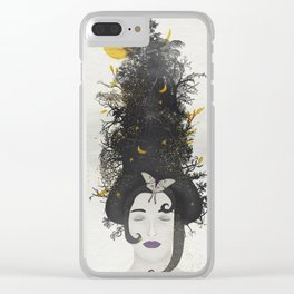 Rococo: Black Queen Clear iPhone Case