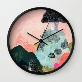 she turned herself into a mountain 2 Wall Clock