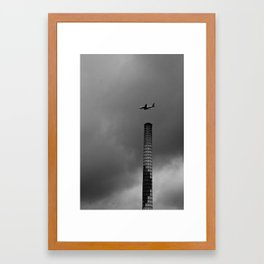 Plane Smoke Framed Art Print