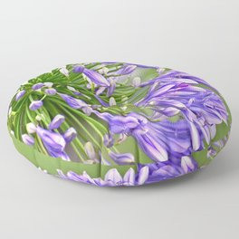 Agapanthus (African Lily) Floor Pillow