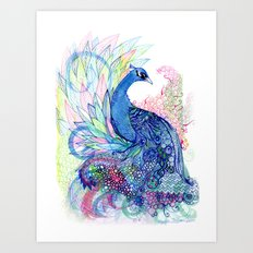 Blue Wild Art Print