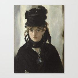 Edouard Manet - Young woman in a black hat Canvas Print
