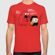 Worst Imaginary Friend Ever LARGE Mens Fitted Tee Red