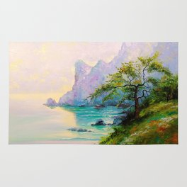 Morning by the sea Rug