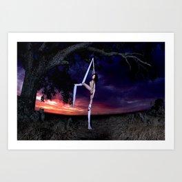 Ariel Nude & Silks Art Print