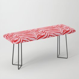Tiger Print - Red and Pink Bench