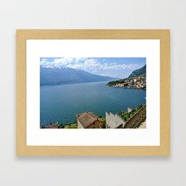 Lake Garda dreams Framed Art Print