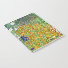 Flower Garden - Gustav Klimt Notebook