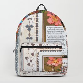 Kate Greenaway - Valentine 1874 - Digital Remastered Edition Backpack