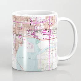 Vintage Map of Tampa Florida (1956) Coffee Mug